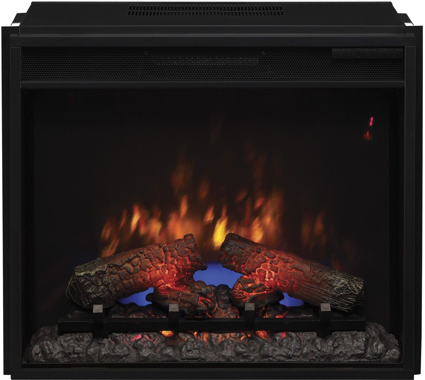 Classicflame Midnight Cherry Carlin Tv Stand With 23 Electric Fireplace From Twin Star