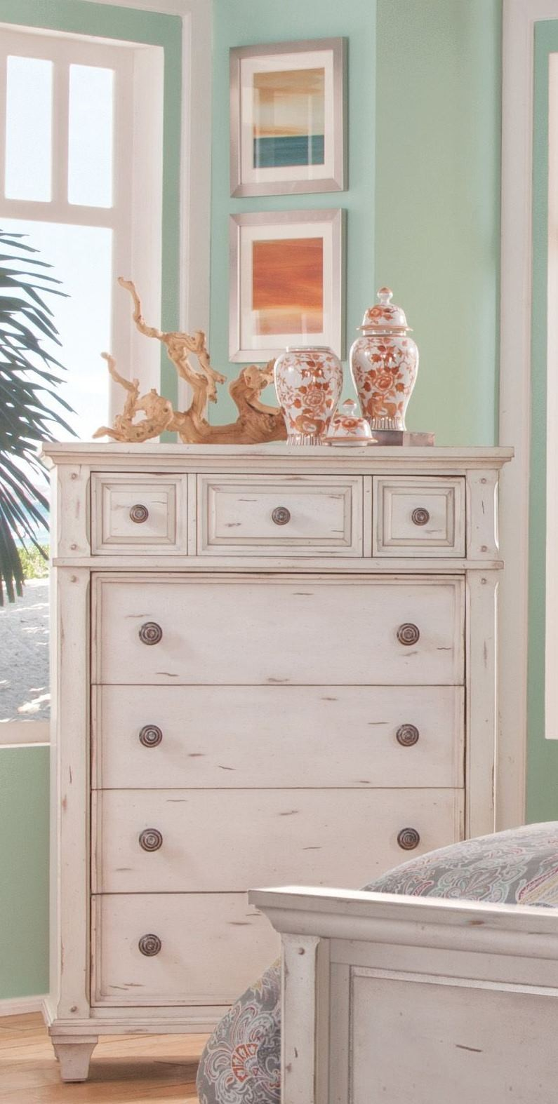 Sedona Cobblestone White Chest From American Woodcrafters