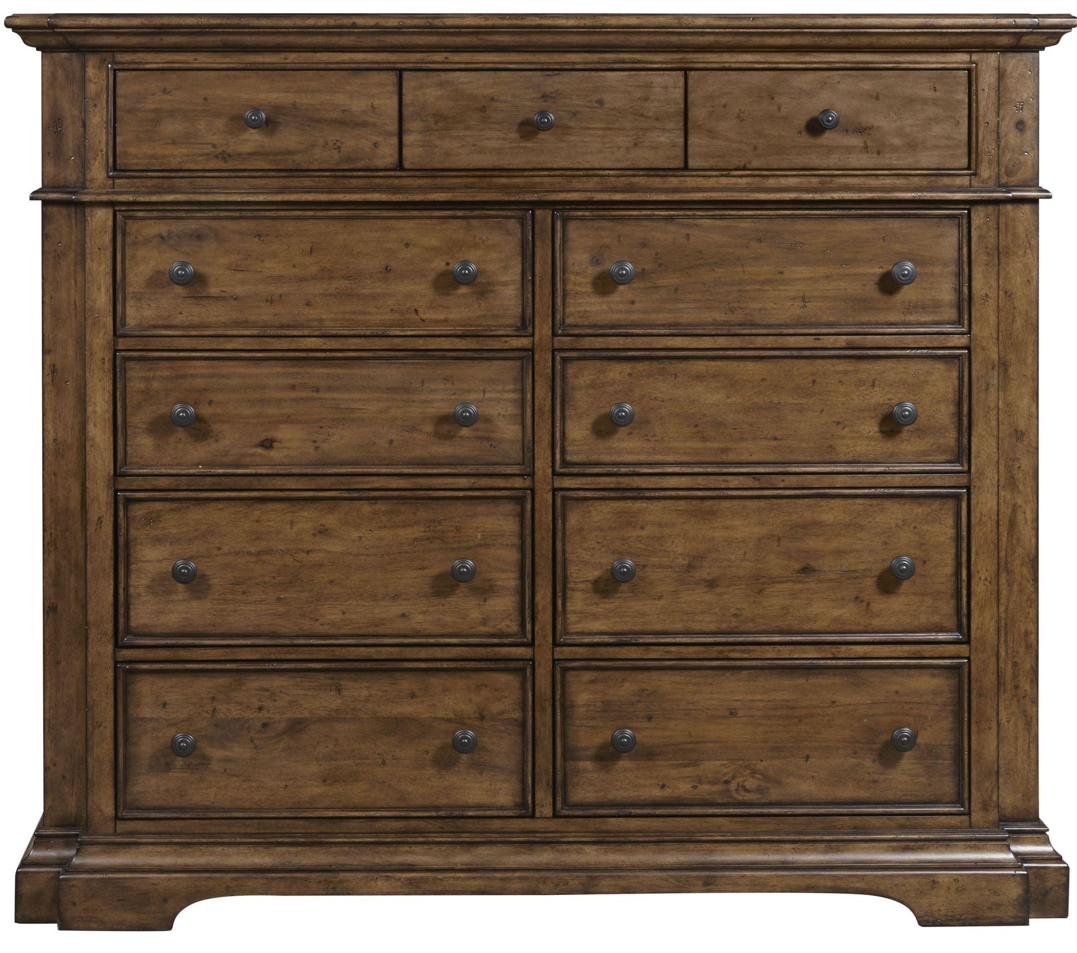 Le Grand 6 Drawer Dresser In Antique White: Reddington 11 Drawer Master Chest From Pulaski (241127