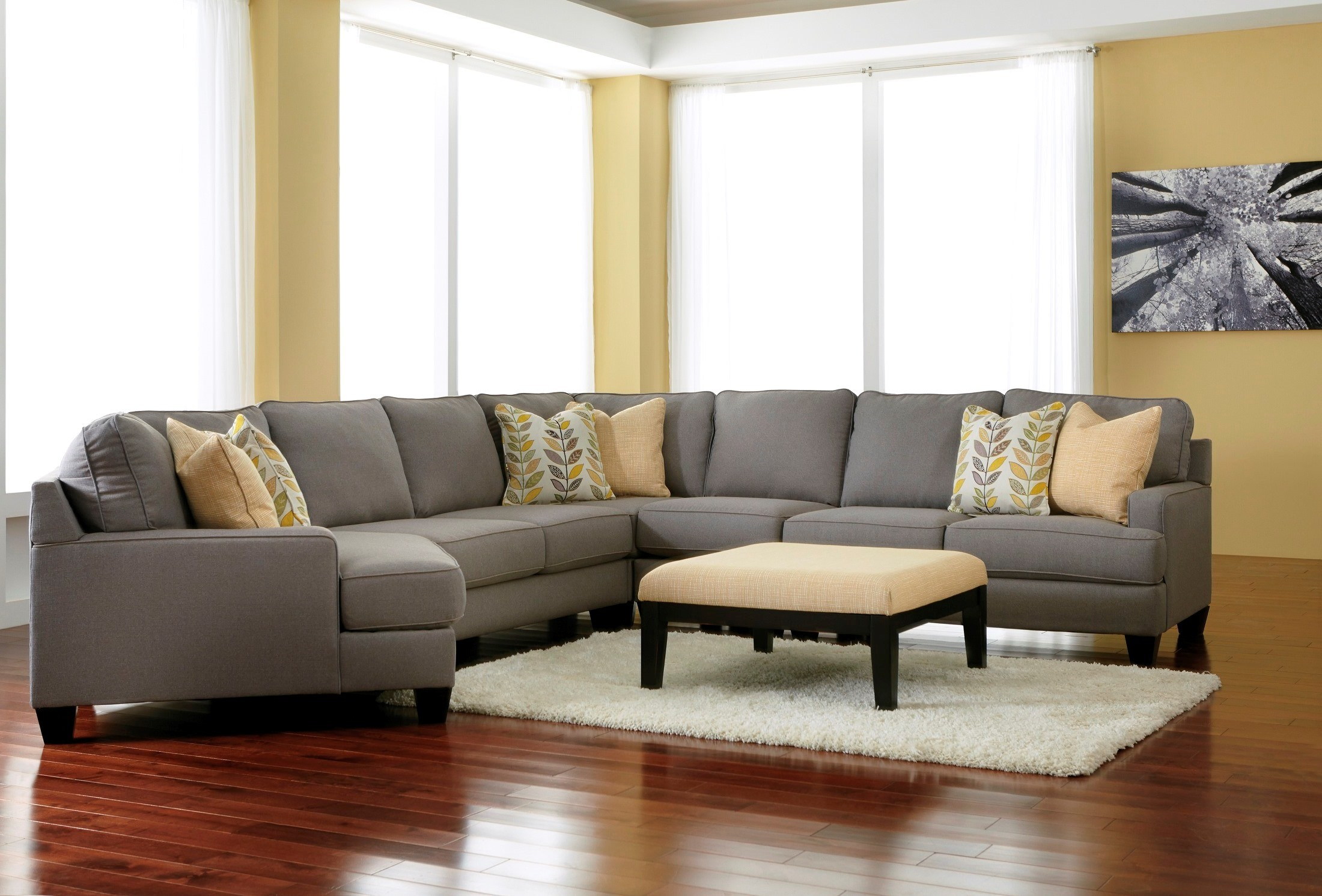 Chamberly Alloy LAF Cuddler Sectional From Ashley (2430216) | Coleman  Furniture
