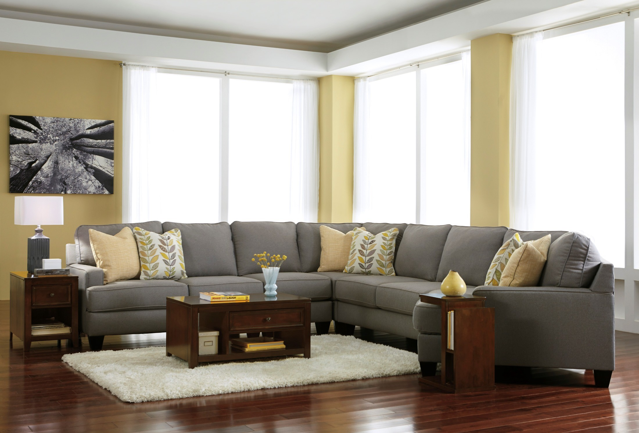 Excellent Light Gray Couches With Accent Chair 20 Photos Blue Denim Caraccident5 Cool Chair Designs And Ideas Caraccident5Info