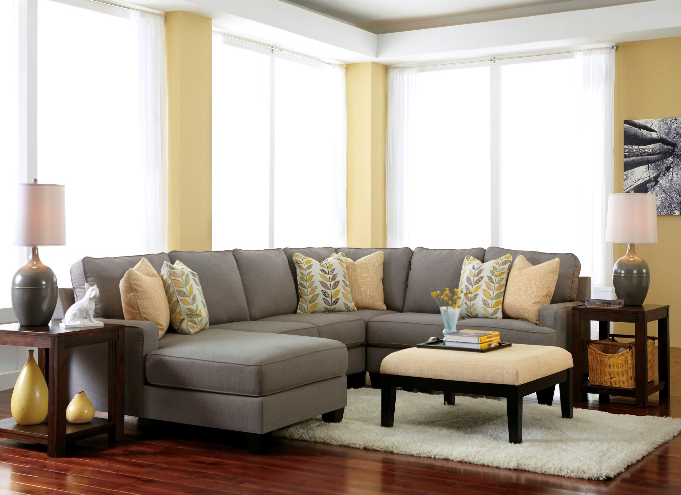Chamberly Alloy Laf Chaise Sectional From Ashley 2430216