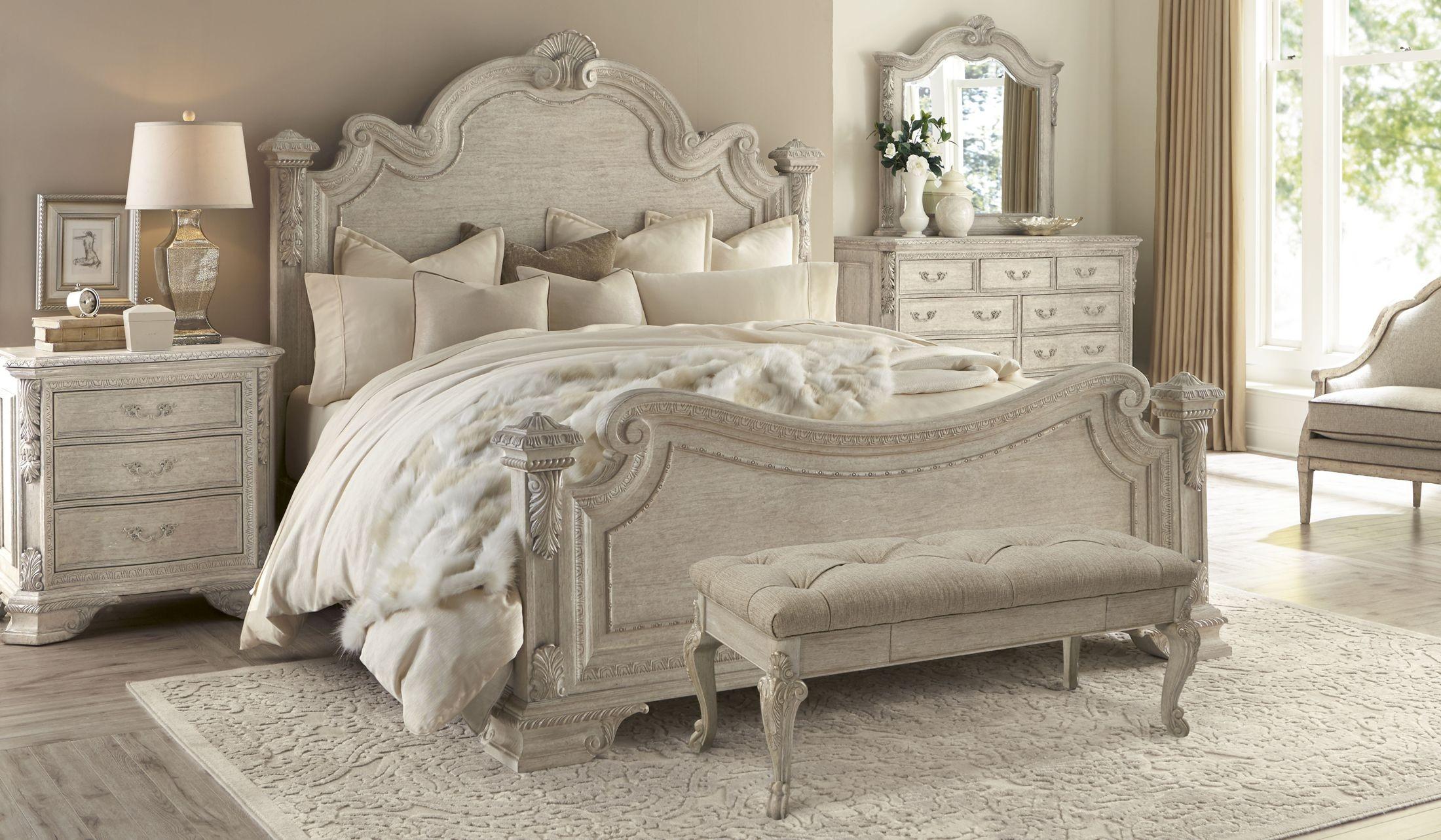 Renaissance dove grey estate bedroom set from art 243155 - King size bedroom sets for sale by owner ...
