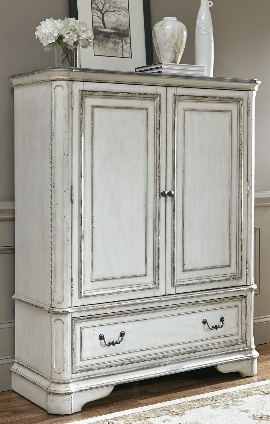 Perfect Magnolia Manor Antique White Door Chest