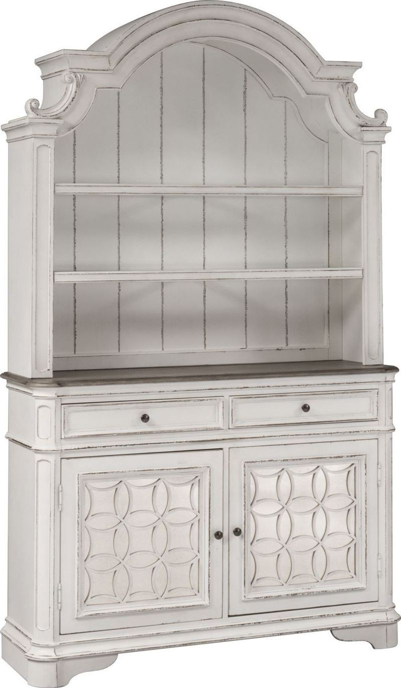 Magnolia Manor Antique White Buffet With Hutch From
