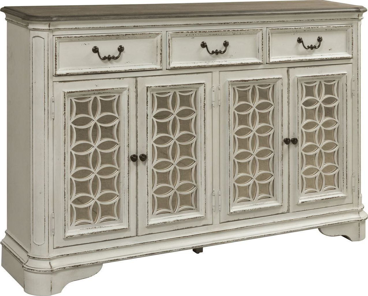 Magnolia Manor Antique White Hall Buffet From Liberty