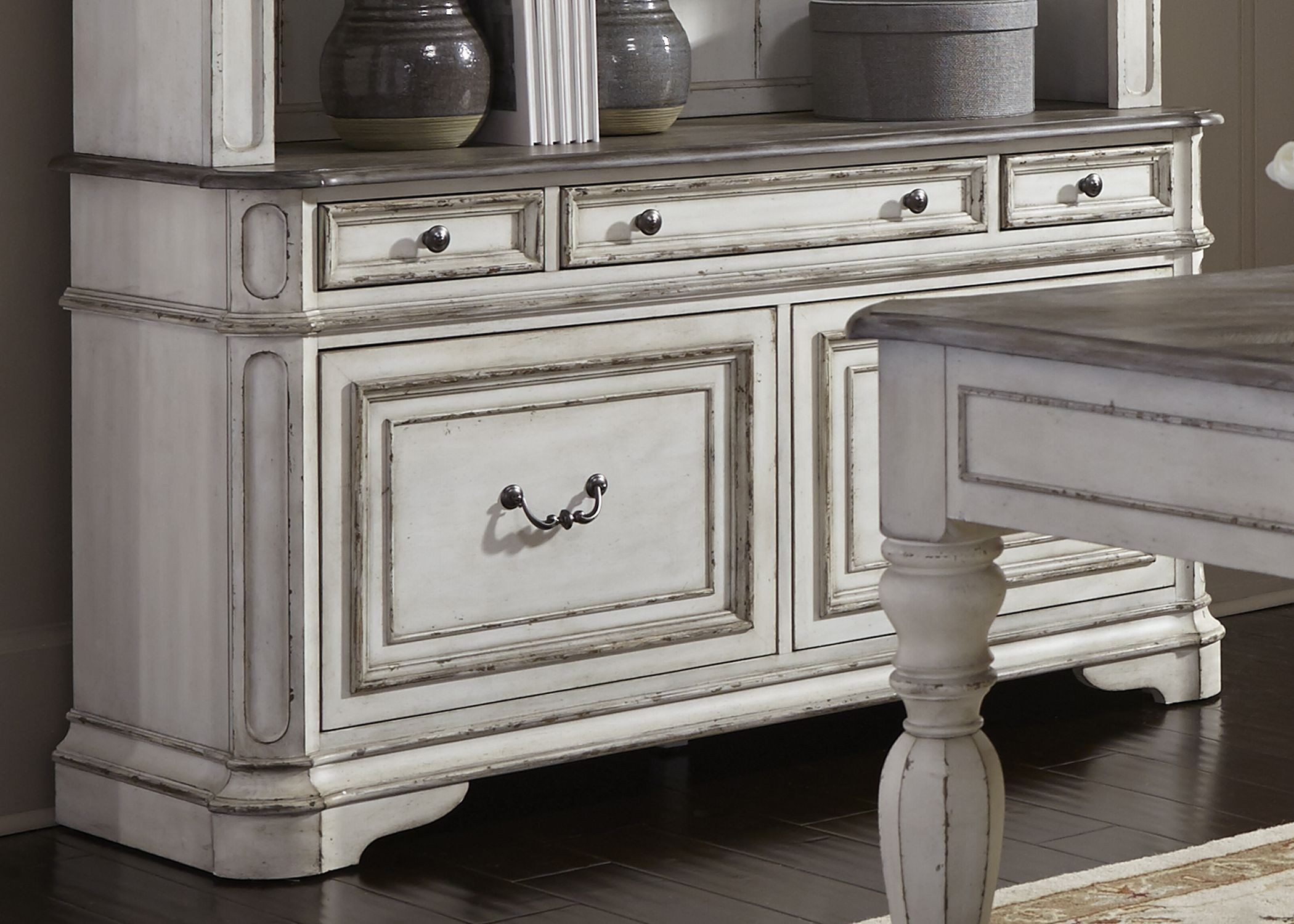 Design White Credenza magnolia manor antique white credenza from liberty coleman furniture 1803208