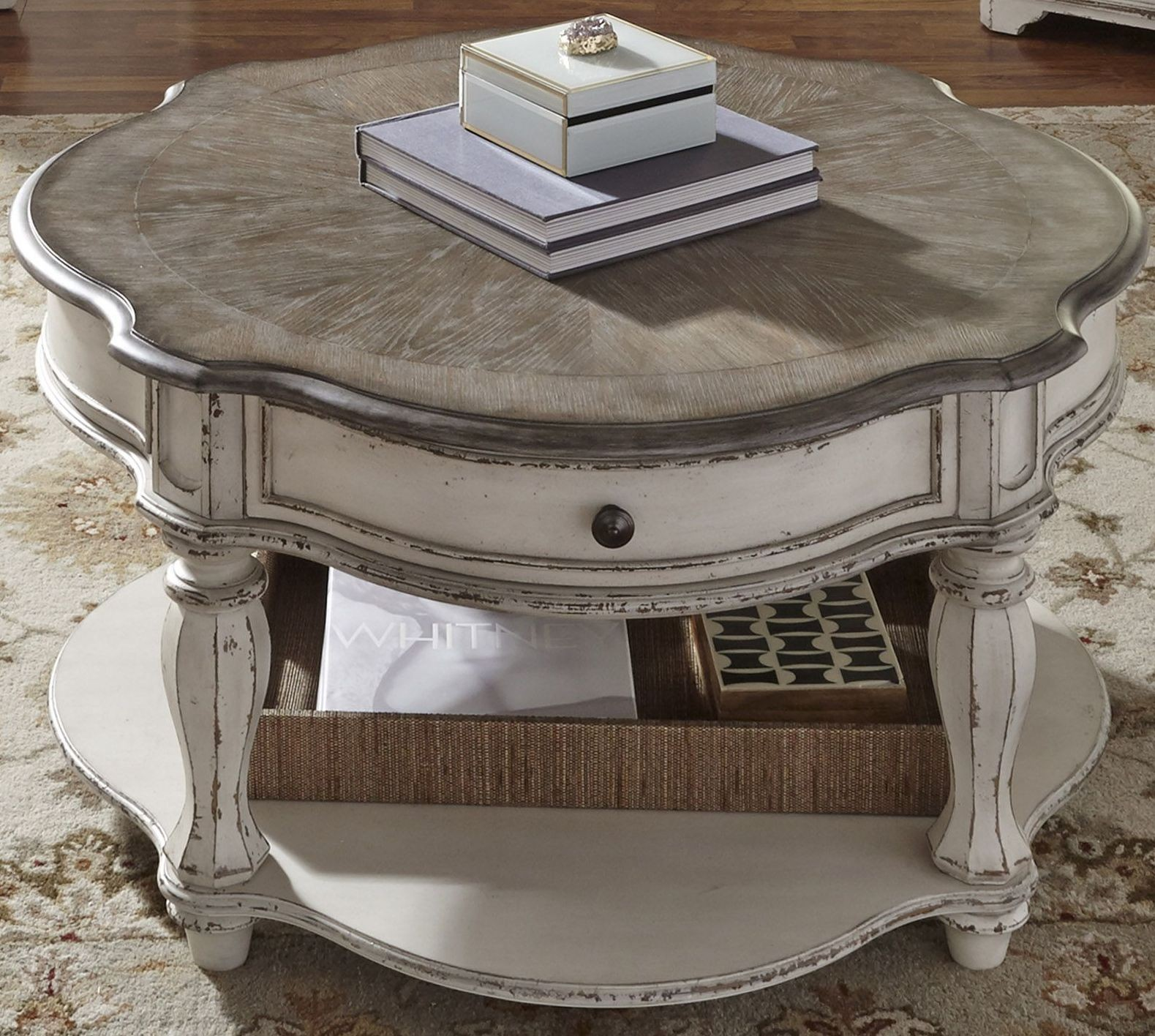 Magnolia Manor Antique White Occasional Table Set from Liberty