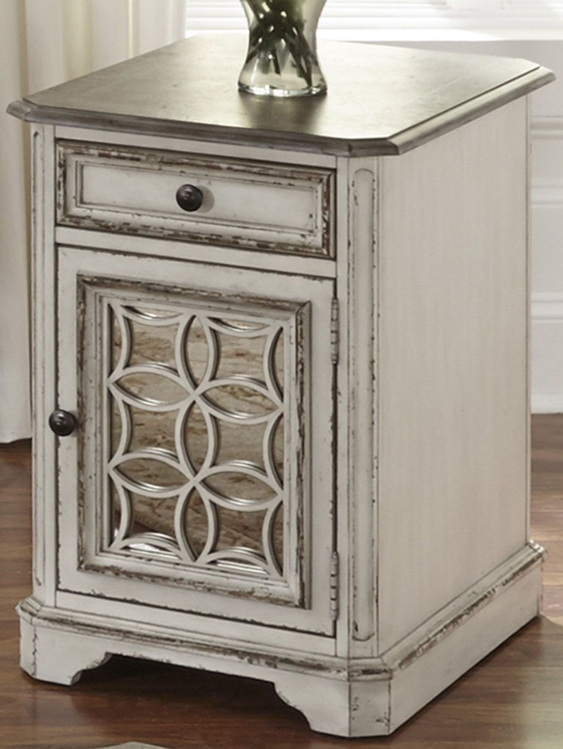 Magnolia Manor Antique White Chair Side Table From Liberty