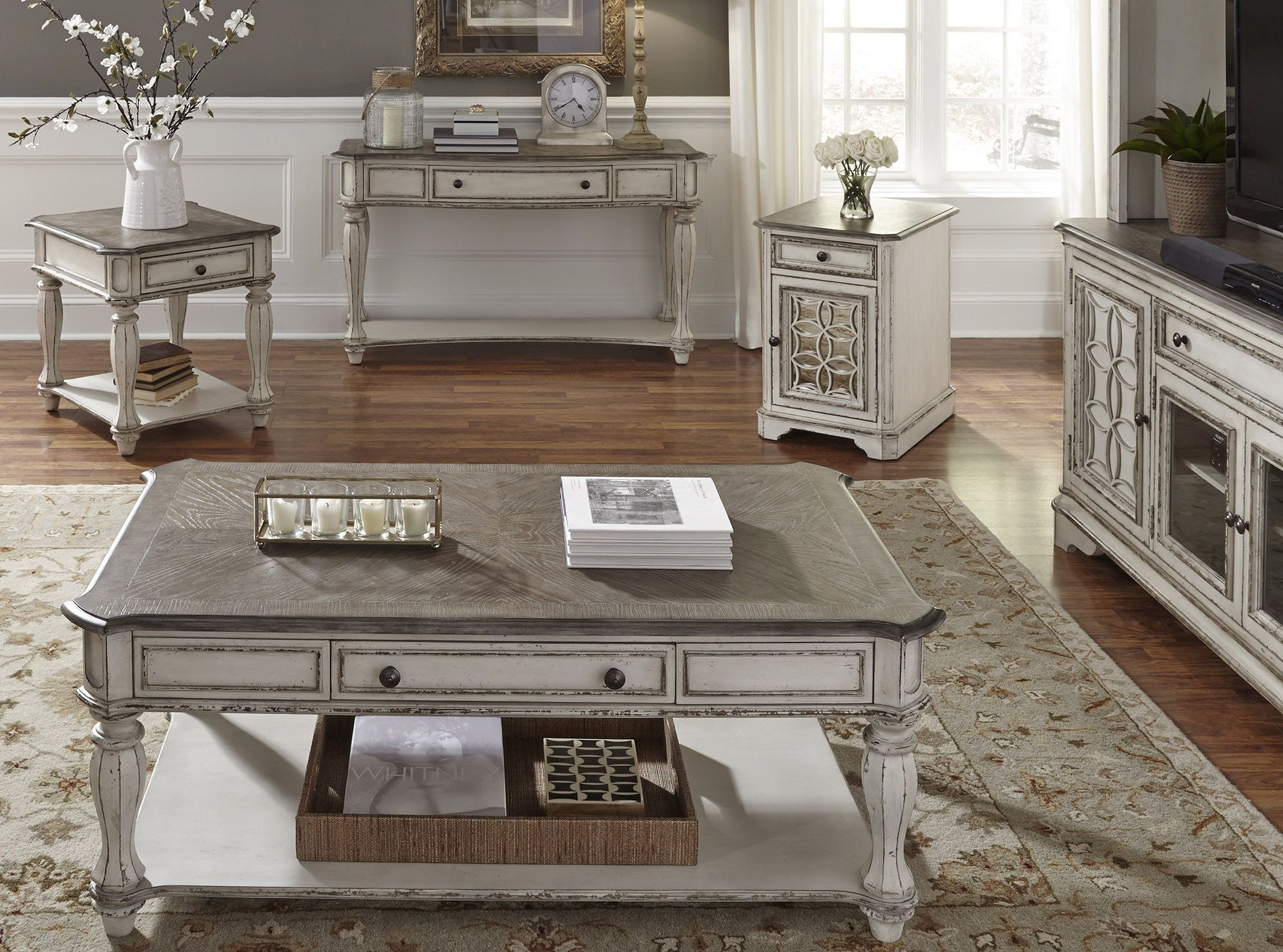 Magnolia Manor Antique White Sofa Table From Liberty