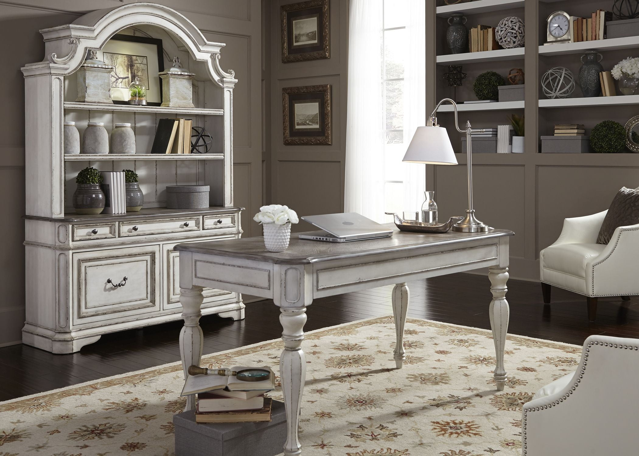 Merveilleux Magnolia Manor Antique White Home Office Set From Liberty   Coleman  Furniture