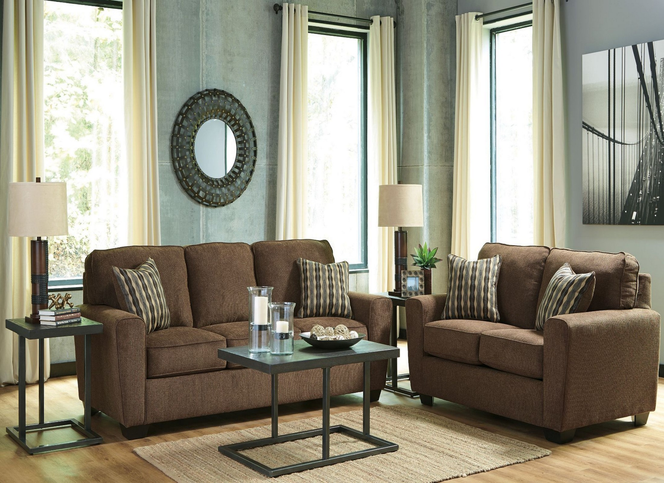 Landoff Walnut Living Room Set From Ashley Coleman Furniture