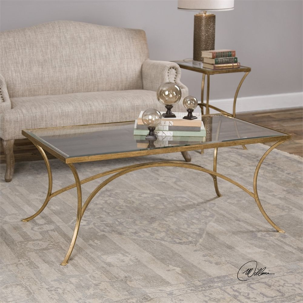 gold coffee tables living room alayna gold coffee table from uttermost coleman furniture 18879