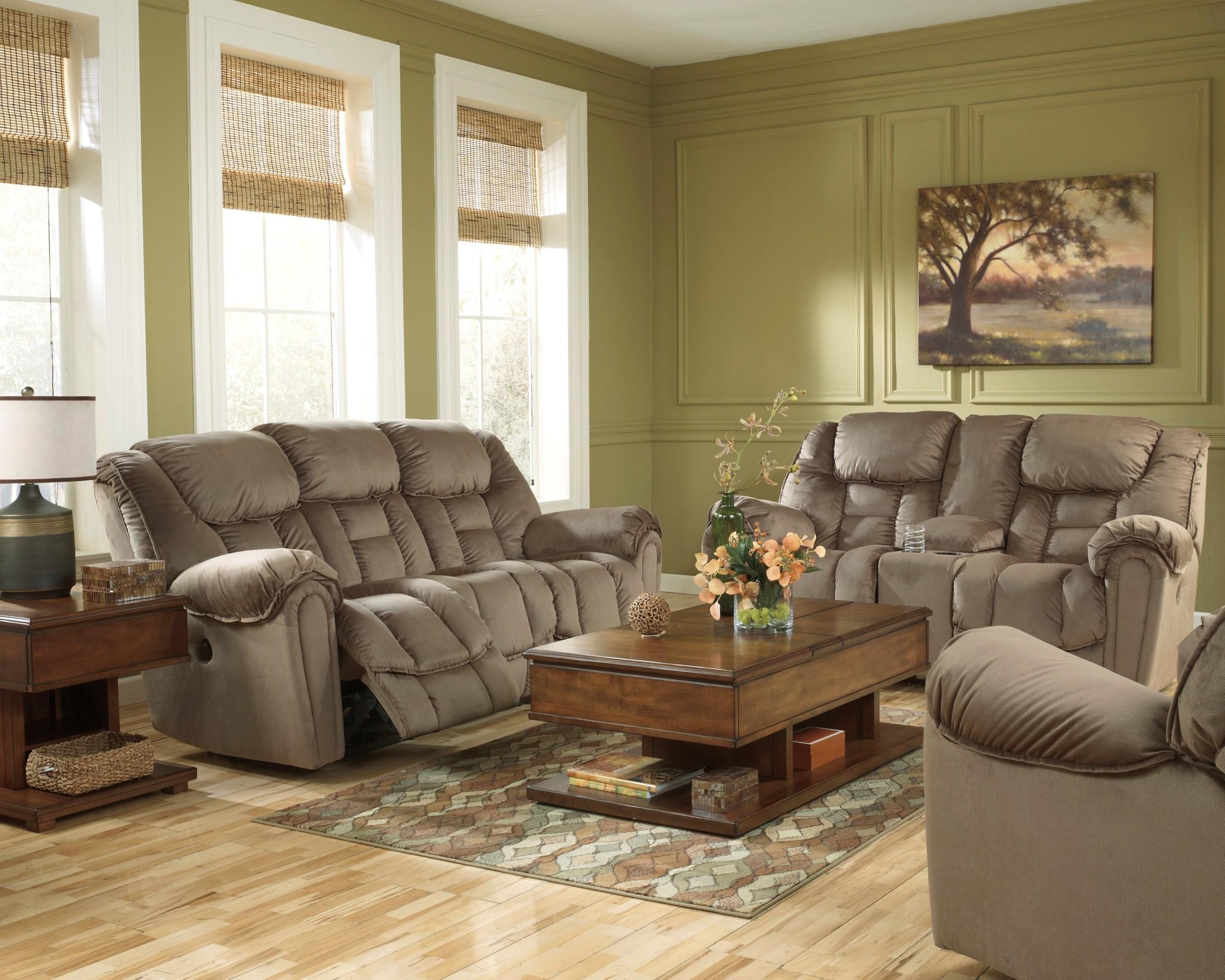 Montgomery Mocha Living Room Set Zion Star
