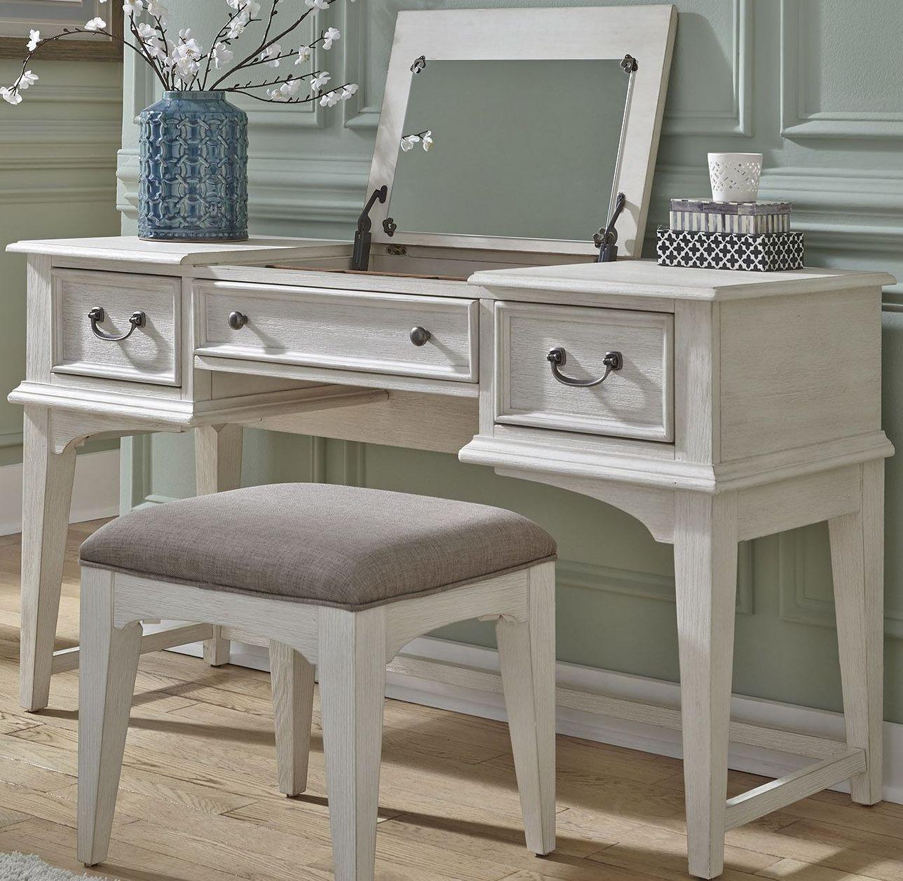 Bayside Youth White Vanity Desk, 249-BR35, Liberty