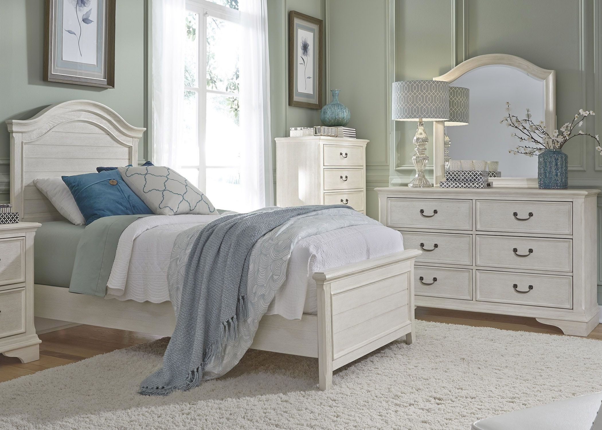 bayside youth white panel bedroom set from liberty coleman furniture