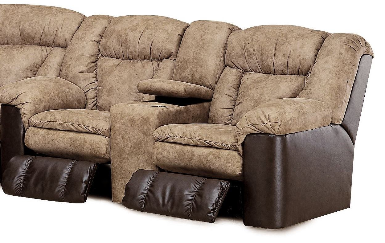 Talon Sahara Sand Double Reclining Console Loveseat From