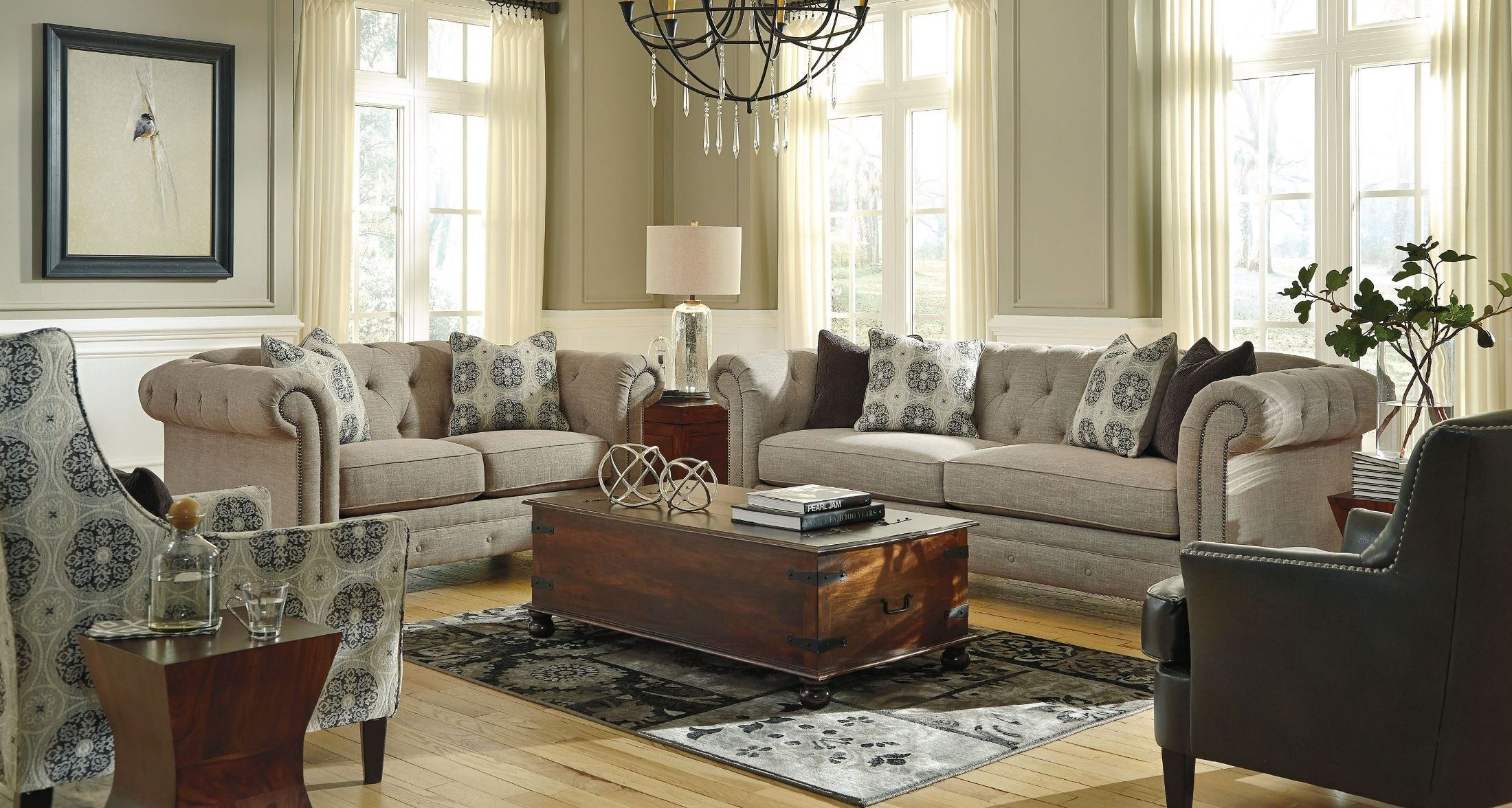 Azlyn Sepia Living Room Set From Ashley 9940238 Coleman Furniture