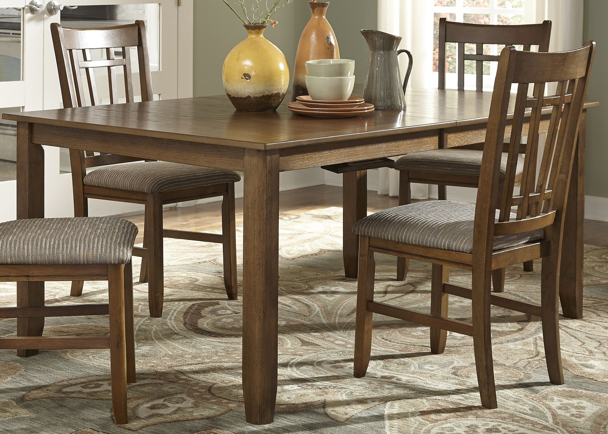 Santa Rosa Brown Extendable Rectangular Leg Dining Table  : 25 t4282liberty from colemanfurniture.com size 2100 x 1500 jpeg 813kB
