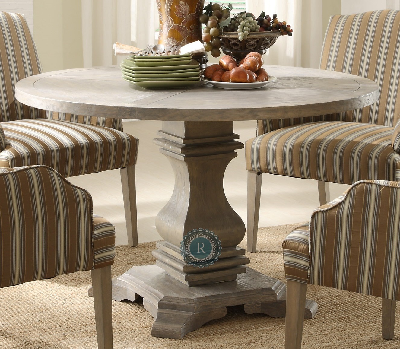 Casual Dining Tables And Chairs: Euro Casual Rustic Weathered Dining Table From Homelegance