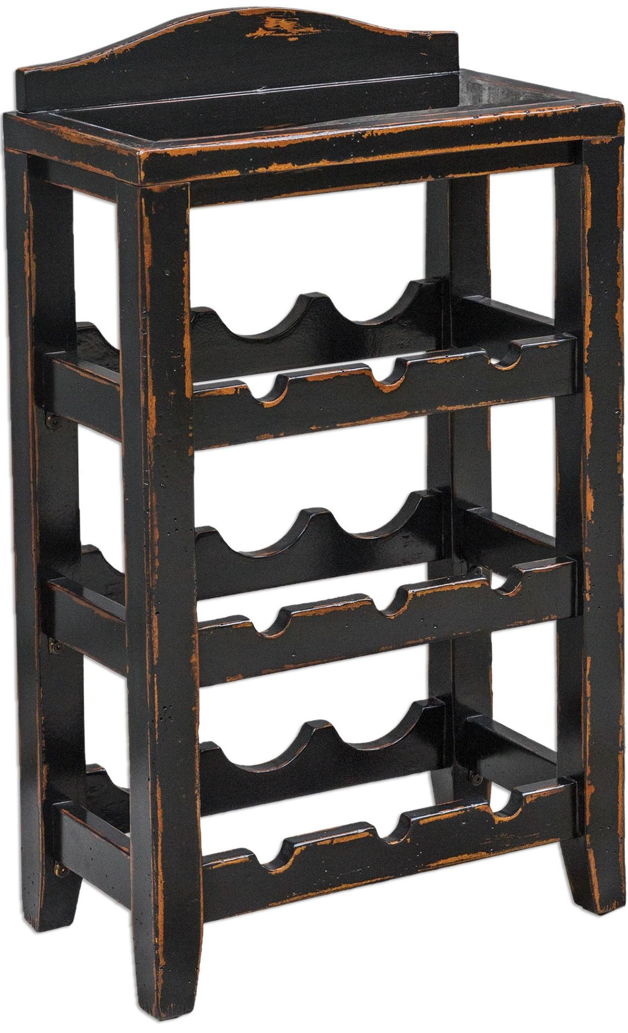 Halton Wine Rack Table From Uttermost 25672 Coleman