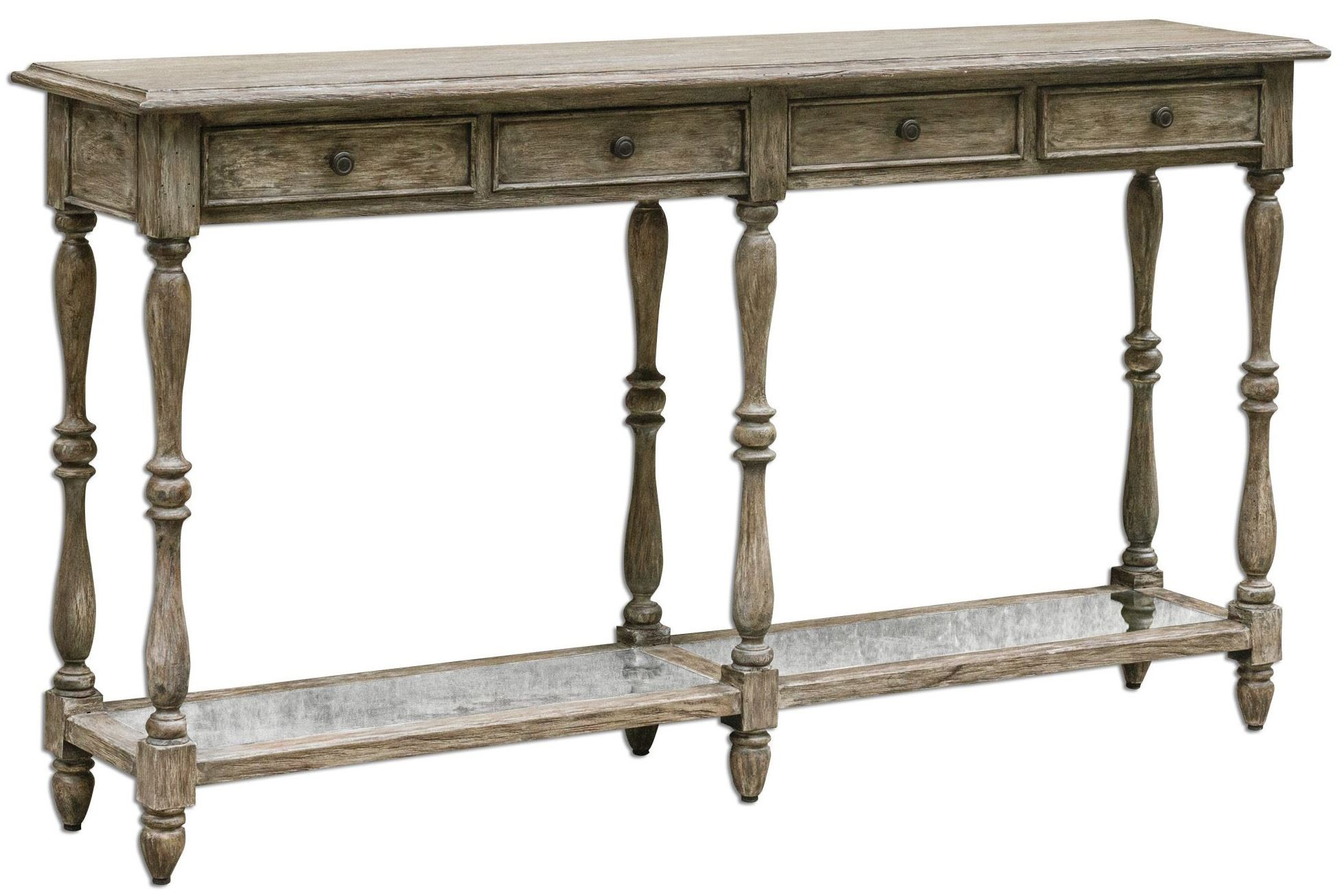 Fortuo weathered console table from uttermost 25676 coleman fortuo weathered console table geotapseo Choice Image