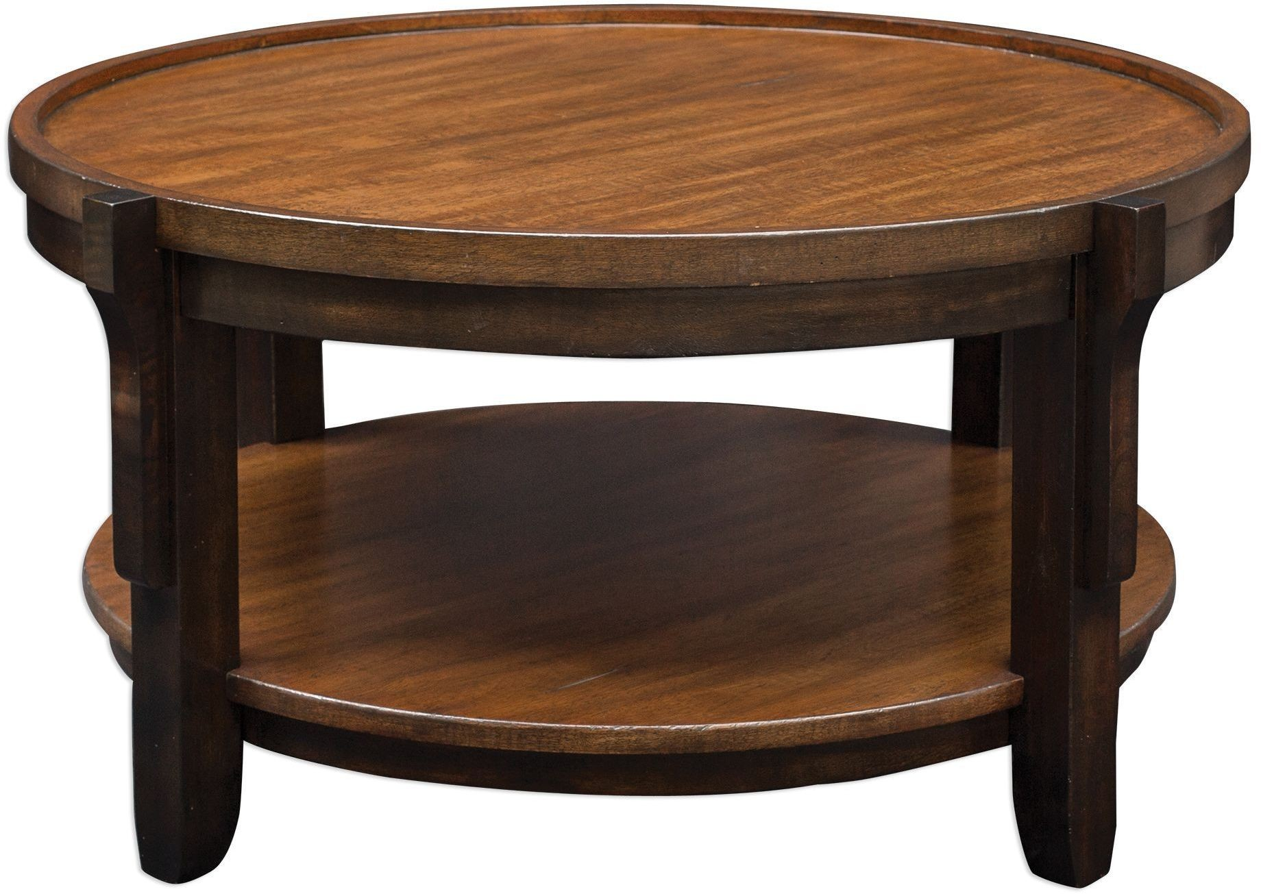 Sigmon Black Round Wooden Coffee Table From Uttermost Coleman Furniture