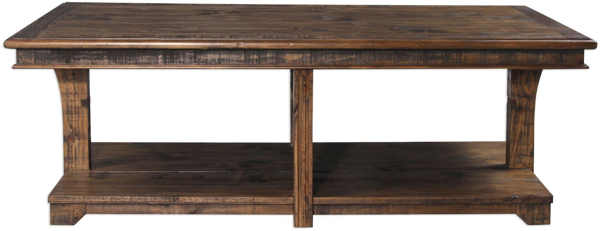 Ramsey Brown Solid Wood Coffee Table 25938 Uttermost