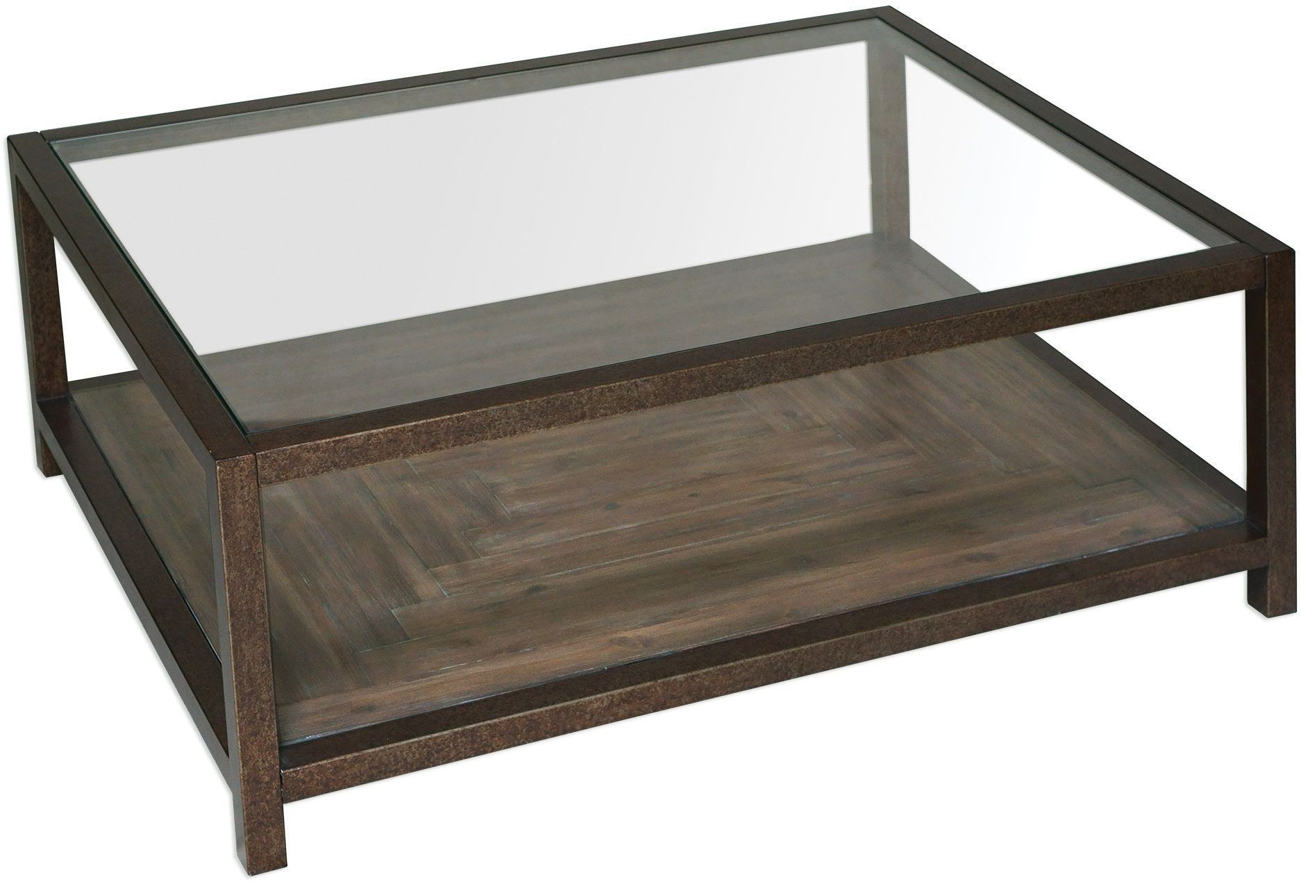 Carter Bronze And Glass Coffee Table From Uttermost Coleman Furniture