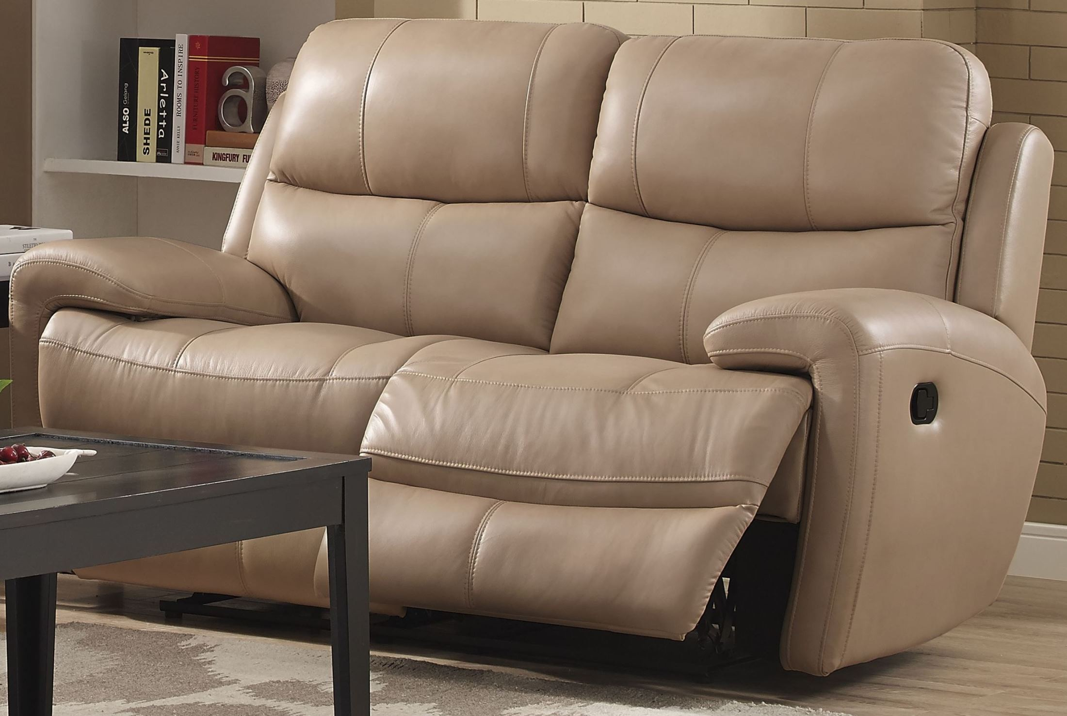 Boulevard taupe dual reclining loveseat from new classic for Classic loveseat