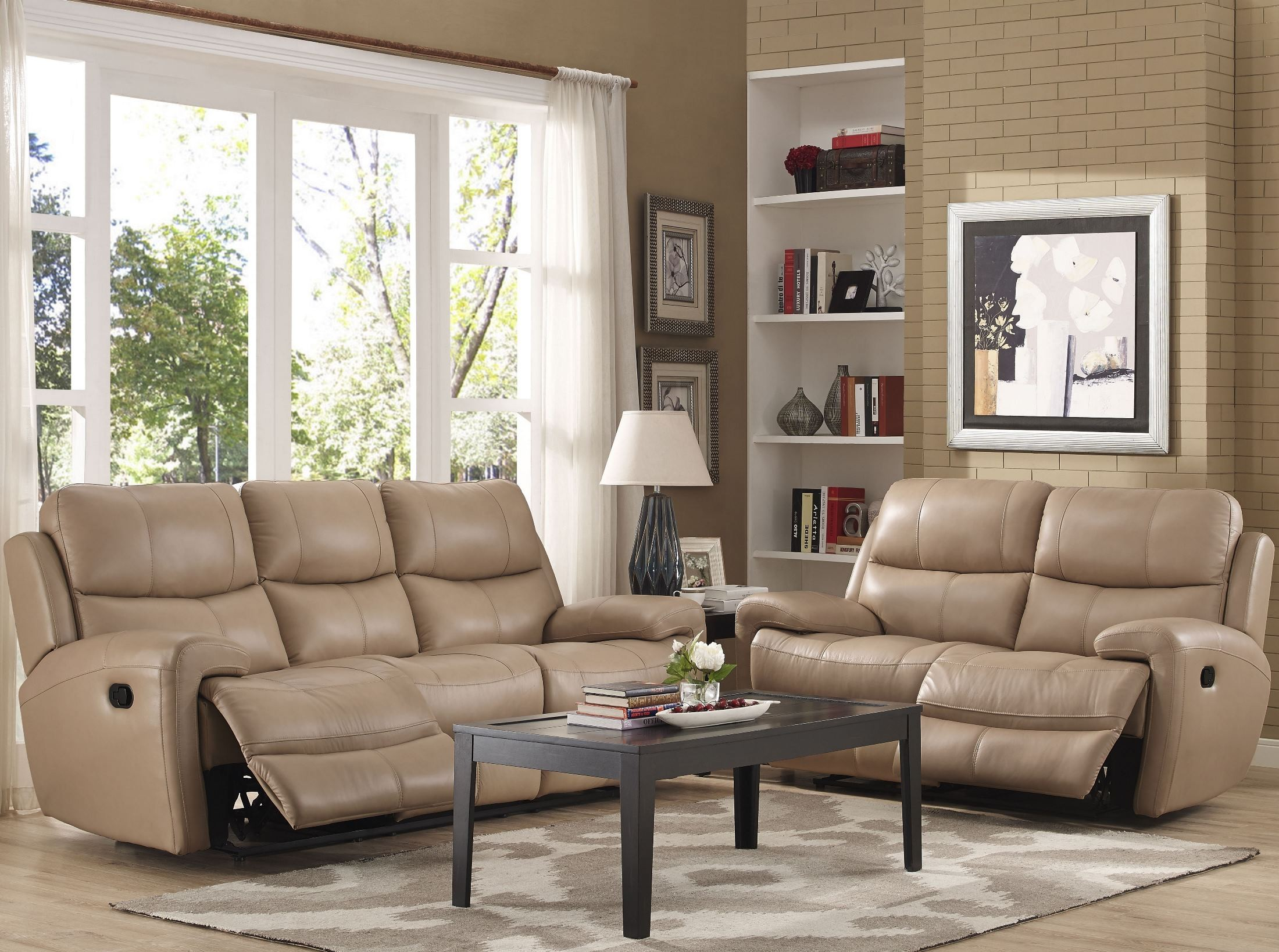 fabulous taupe living room furniture | Boulevard Taupe Power Dual Reclining Living Room Set from ...
