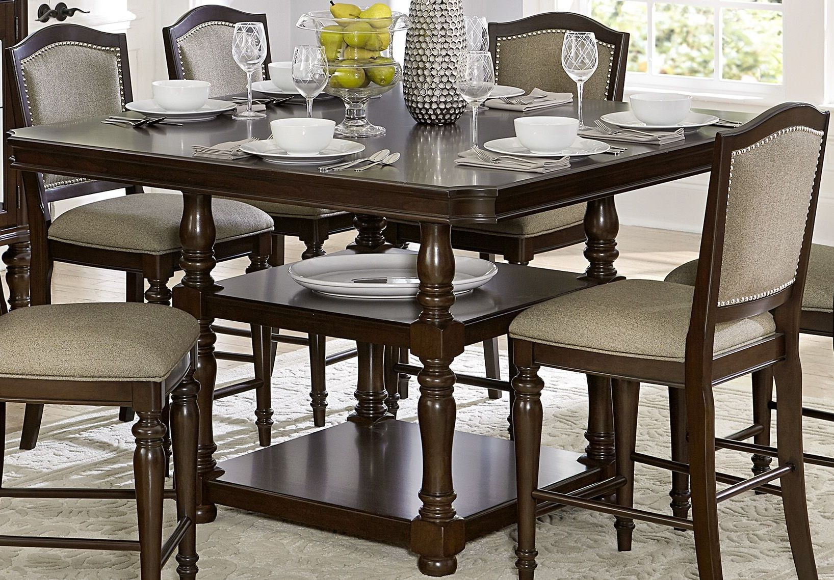 Counter Height Dining Tables: Marston Brown Counter Height Dining Table From Homelegance
