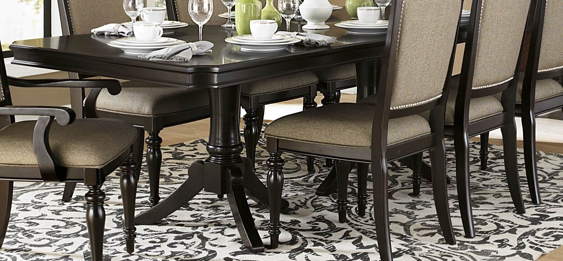 Marston rectangular extendable dining room set from for Dining room tables 96