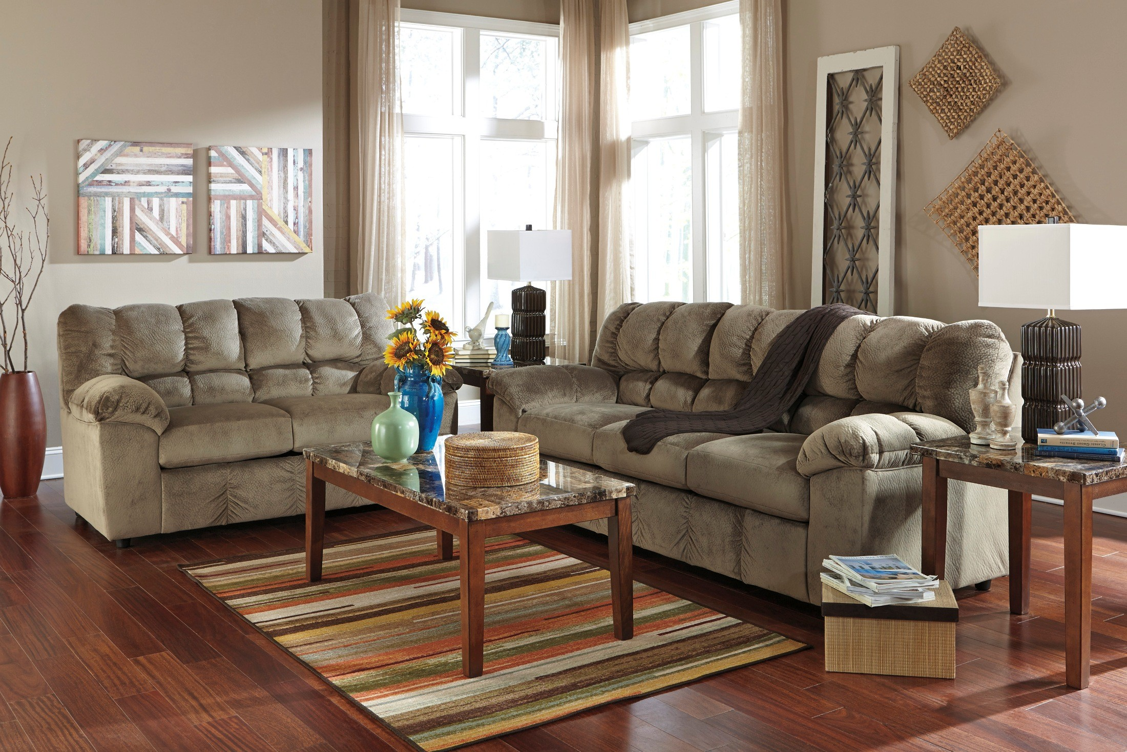 Living Room Furniture: Julson Dune Living Room Set From Ashley (26601-38-35