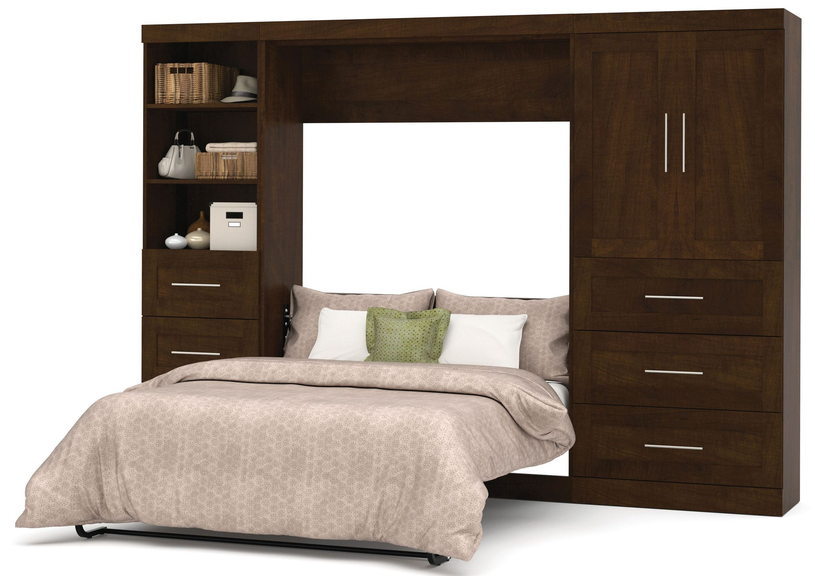 Pur Chocolate 120 Quot Door Full Wall Bed From Bestar 26899