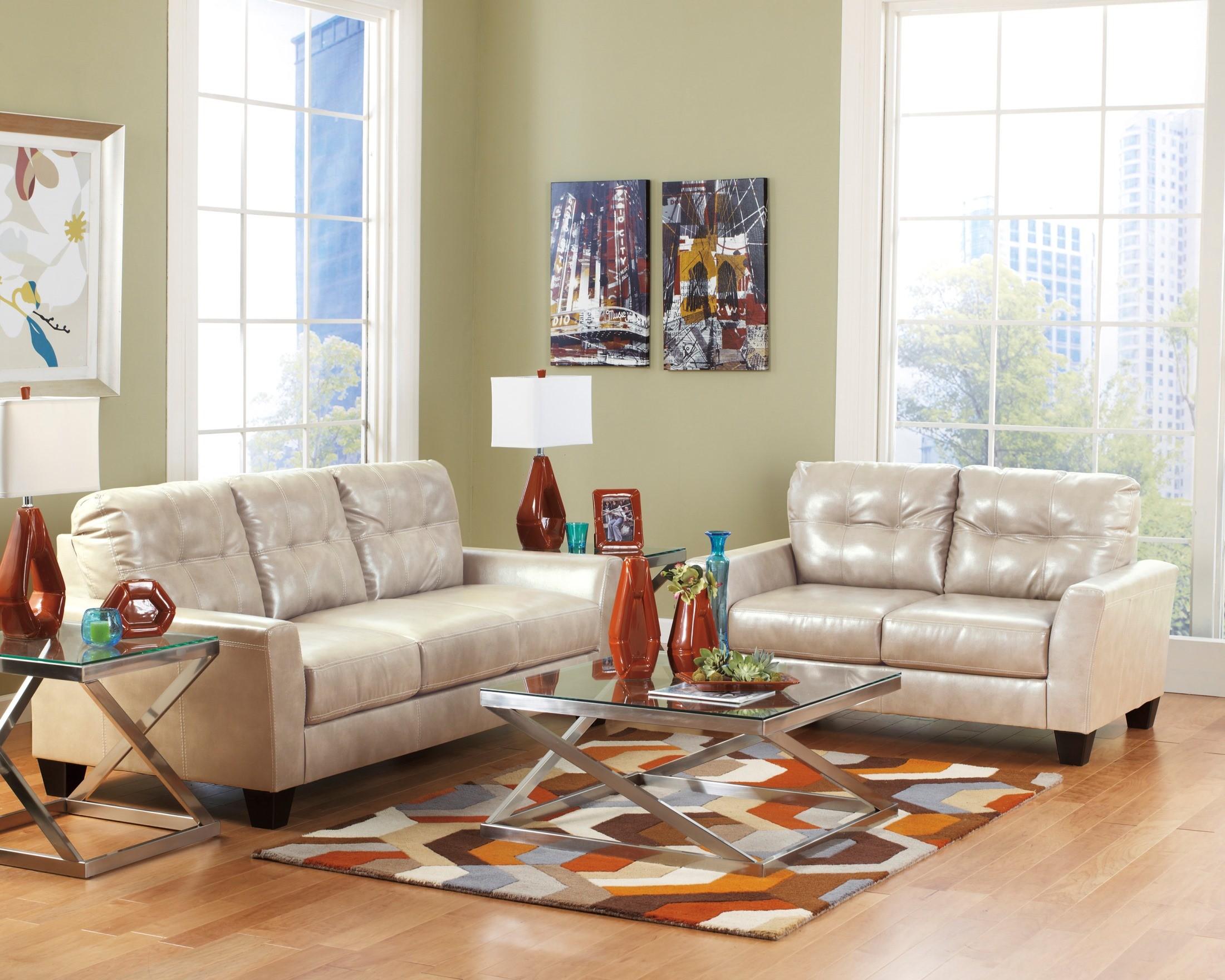 paulie durablend taupe living room set from ashley 27000 38 35 coleman furniture. Black Bedroom Furniture Sets. Home Design Ideas