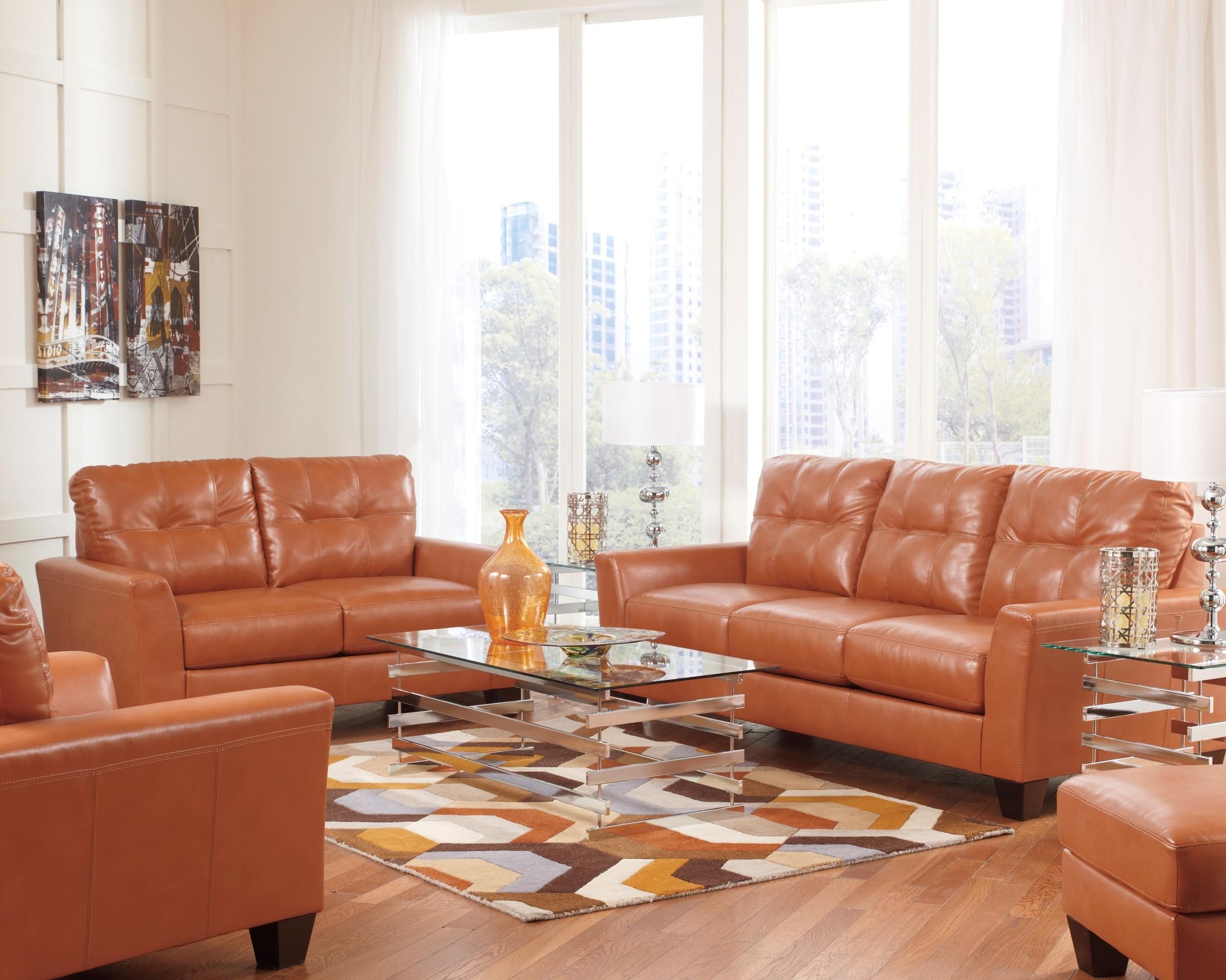Paulie DuraBlend Orange Sofa from Ashley (2700238 ...