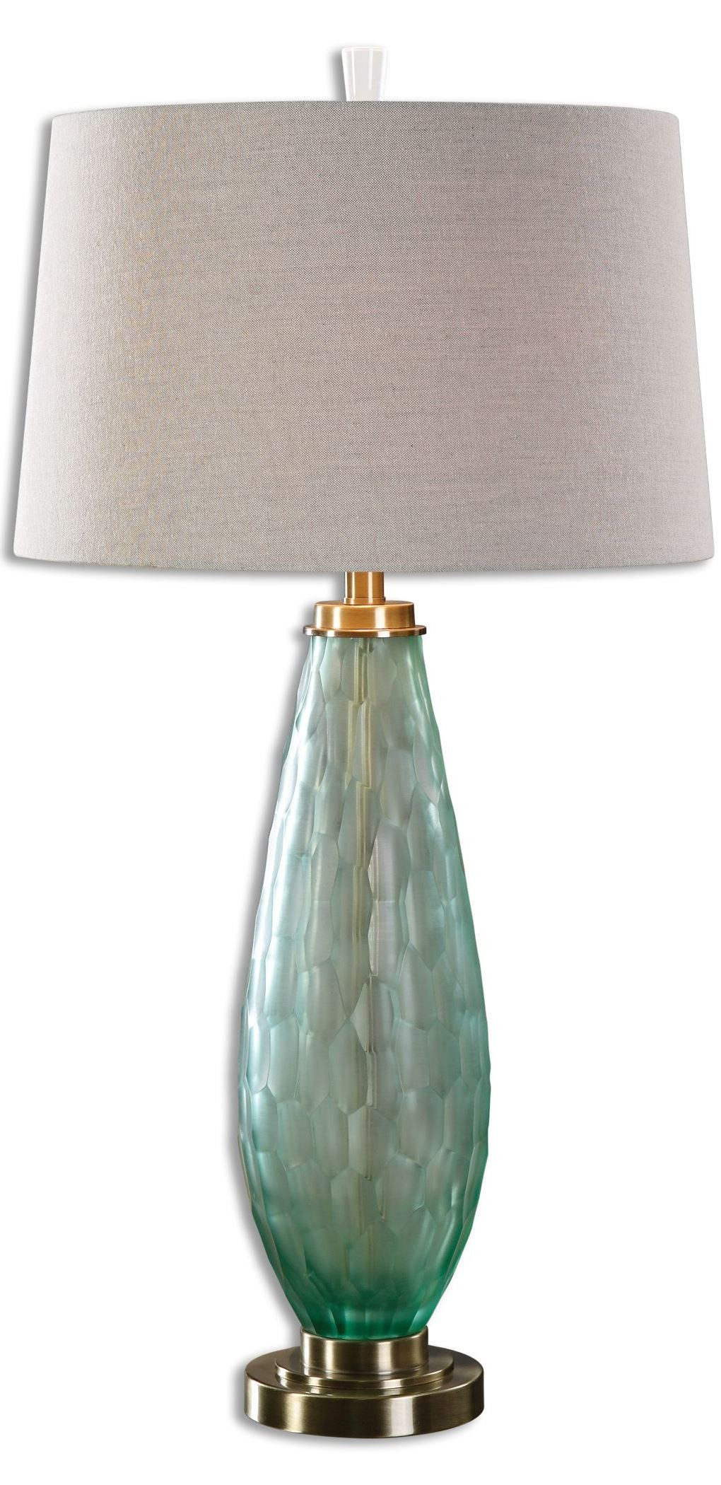 sea glass table lamps lenado sea green glass table lamp from uttermost 27003 5091