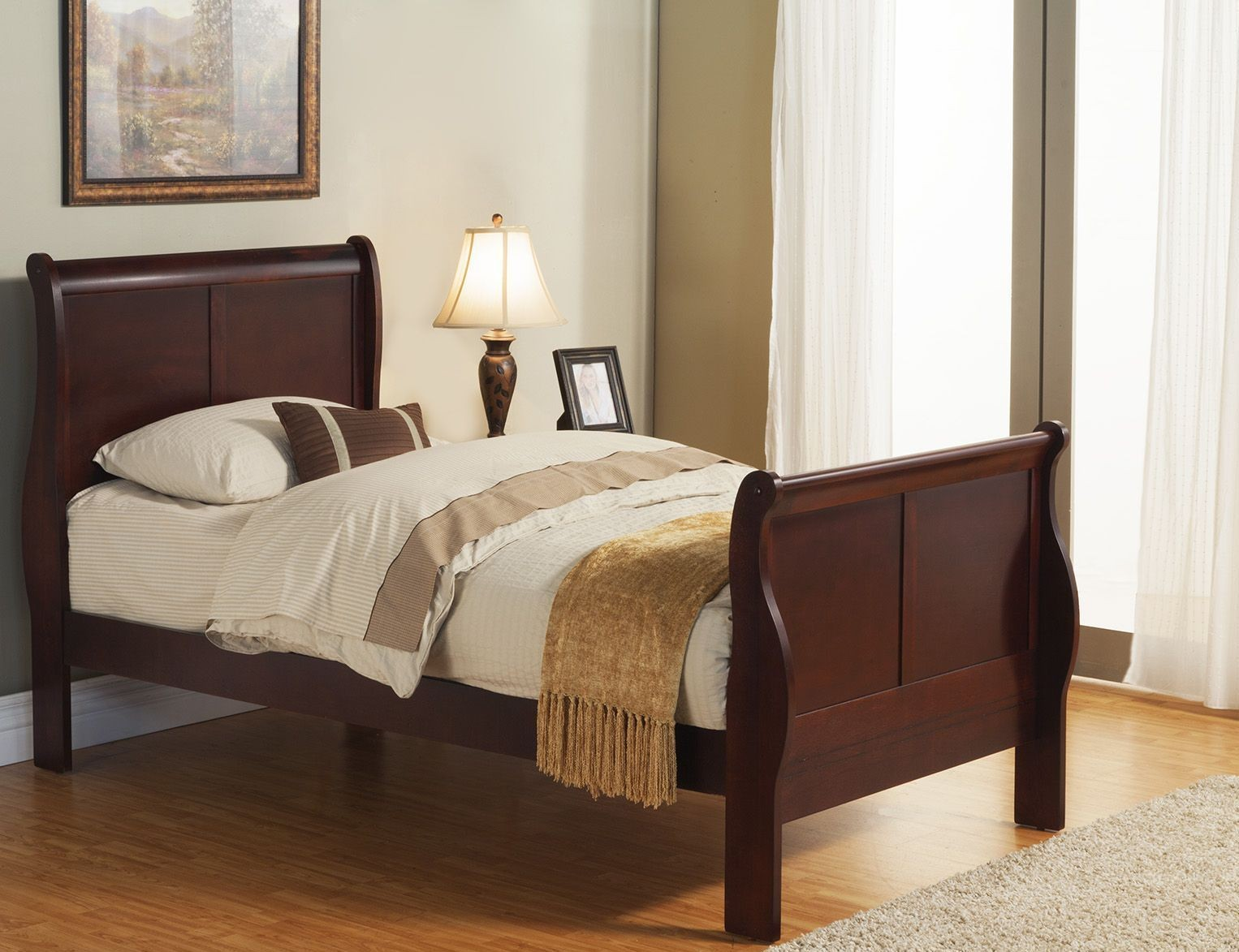 Louis Philippe Ii Cherry Youth Sleigh Bedroom Set From Alpine Coleman Furniture
