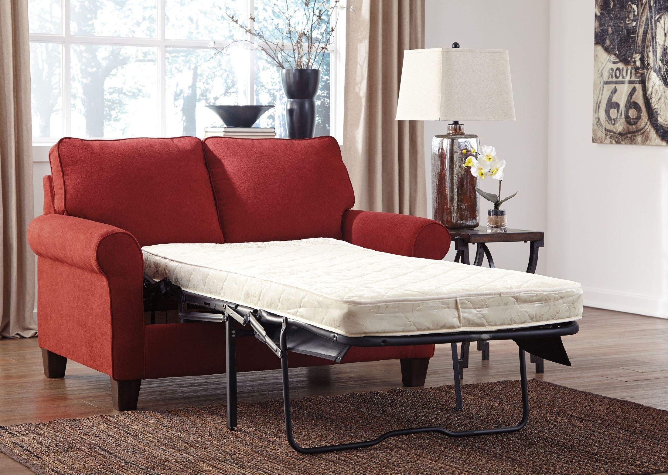 Zeth Crimson Twin Sofa Sleeper from Ashley