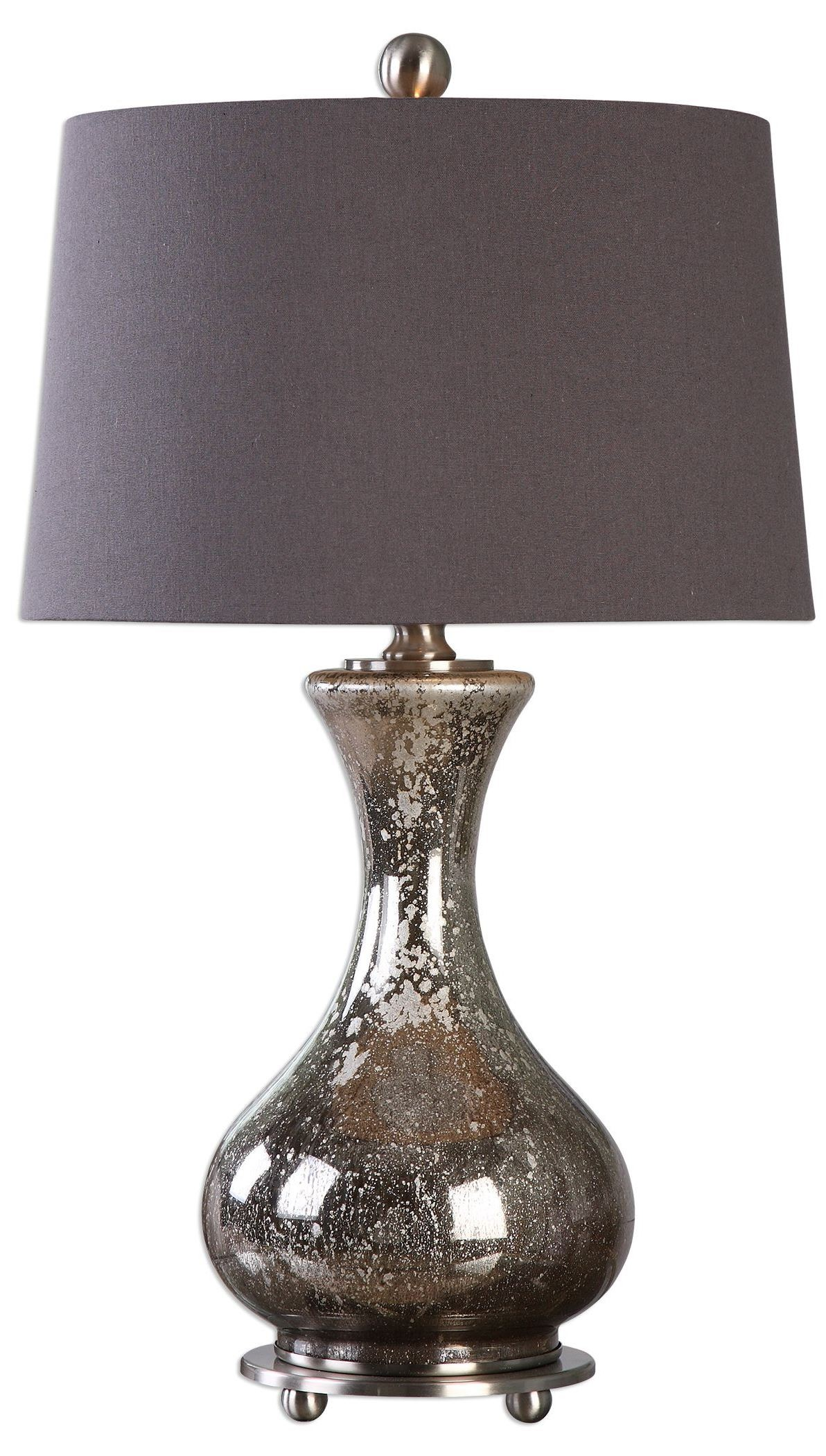 Pioverna Mercury Glass Table Lamp From Uttermost 27155 Coleman Furniture