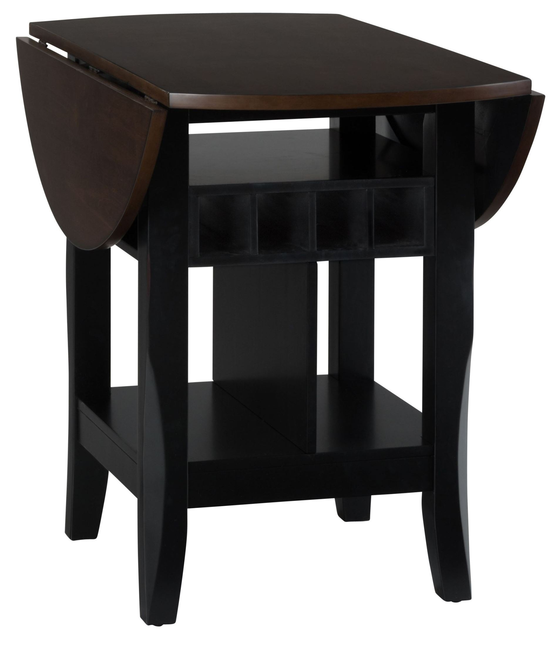 Braden Antique Black  Round Extendable DropLeaf Counter Height - Counter height dining table with leaf