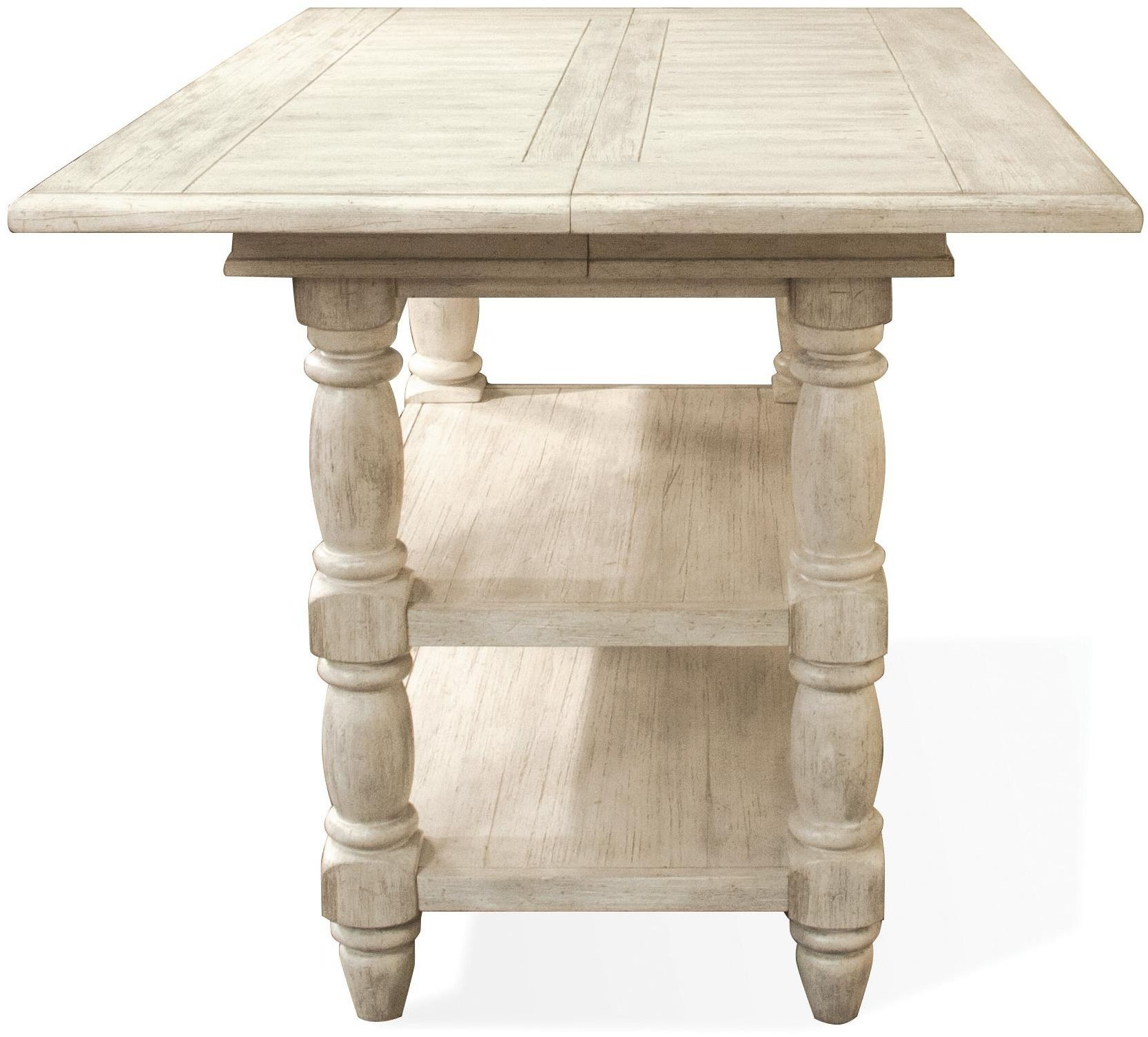 Regan Farmhouse White Extendable Counter Height Dining Table From Riverside Furniture Coleman