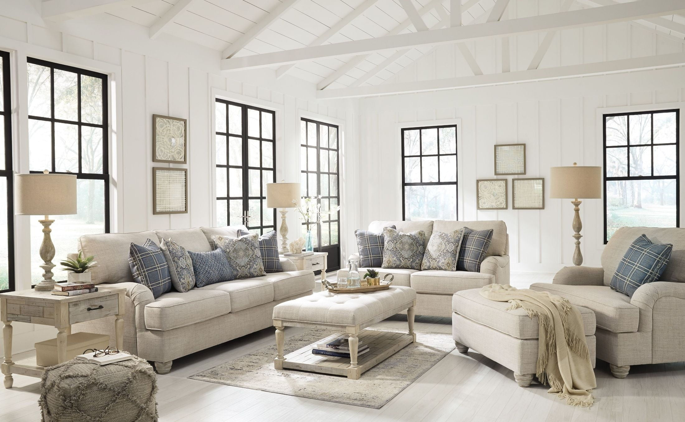Traemore White Living Room Set from Ashley | Coleman Furniture