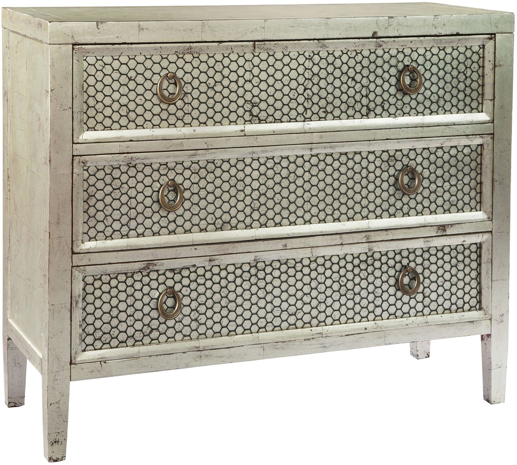 Silver Leaf And Black Hall Chest From Hekman Furniture Coleman Furniture