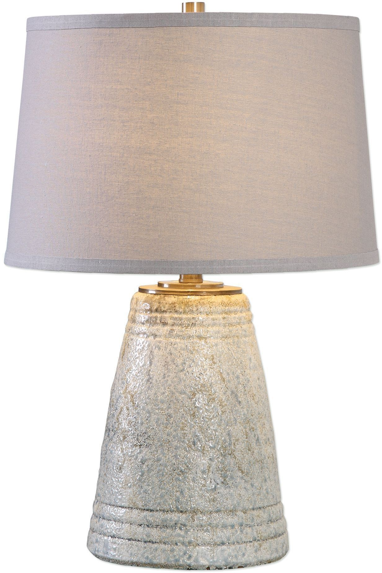 Cholet Textured Gray Ceramic Table Lamp From Uttermost