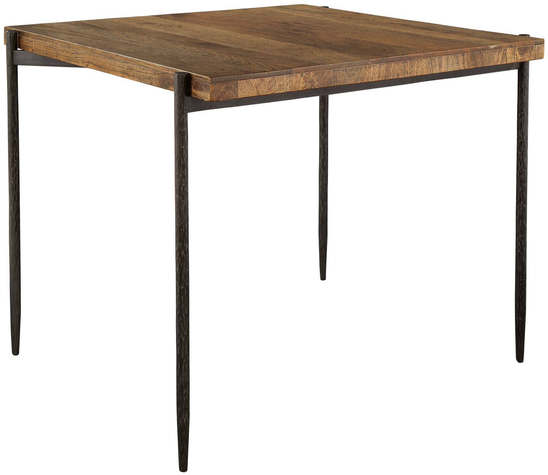 brown forged legs pub table from hekman furniture. Black Bedroom Furniture Sets. Home Design Ideas