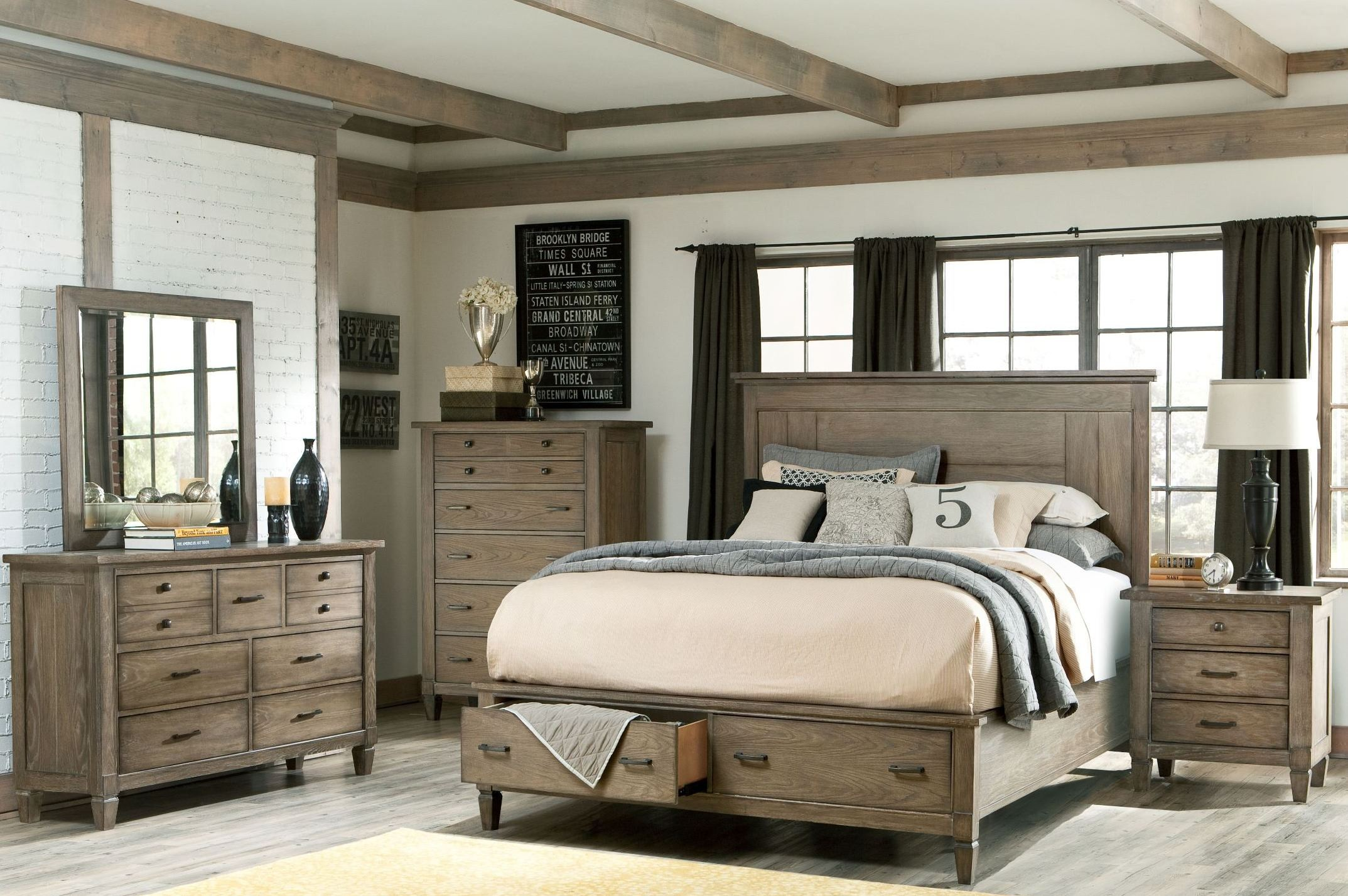 Brownstone Village Panel Storage Bedroom Set From Legacy Classic 2760 4105sk Coleman Furniture
