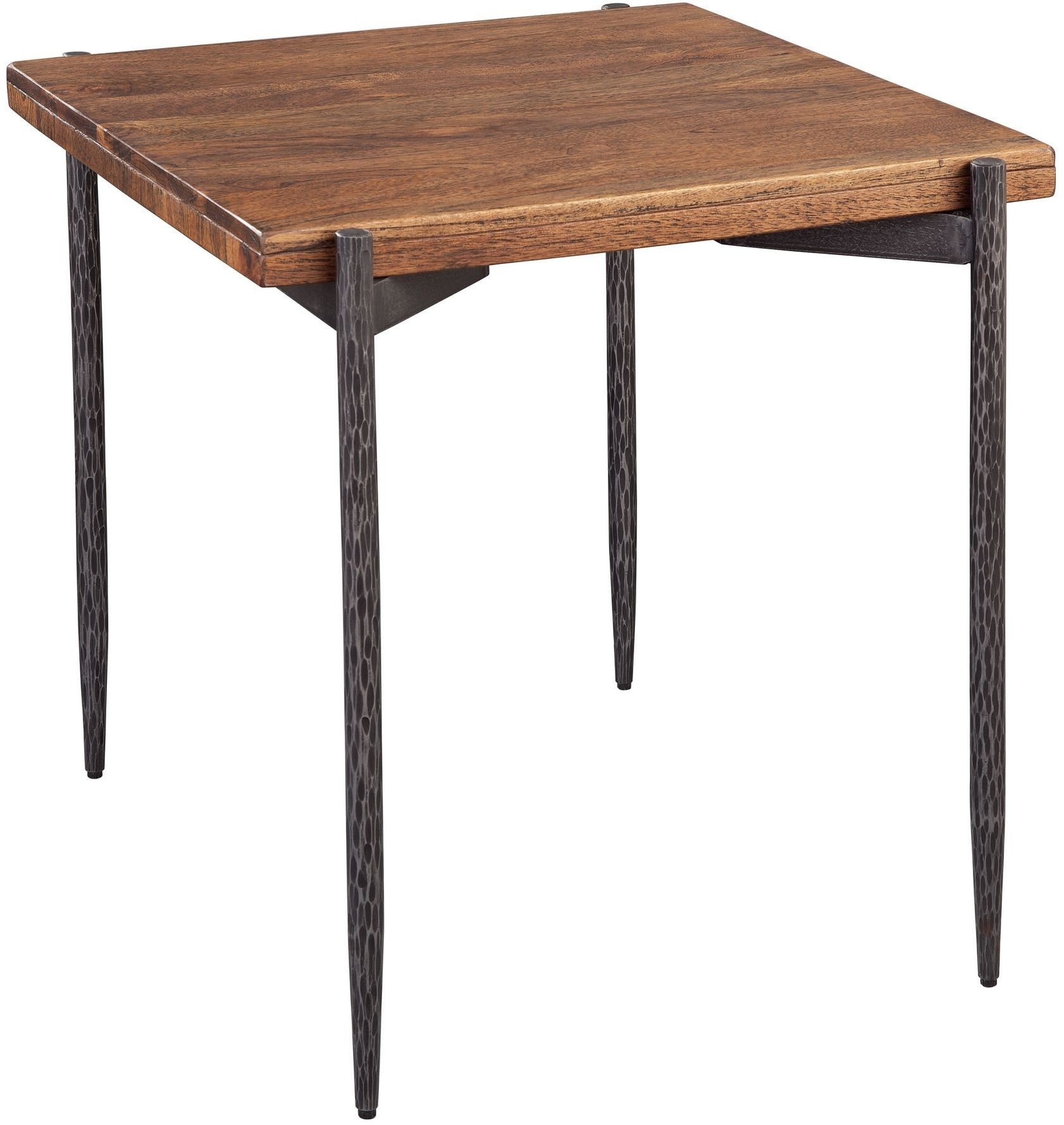 Coffee Table Legs Brown: Brown Square Forged Leg Coffee Table From Hekman Furniture