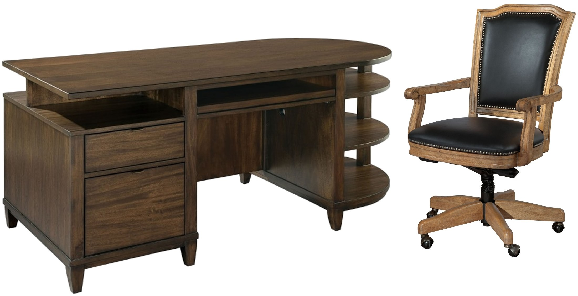 Cantilevered home office set from hekman furniture coleman furniture - Home office furniture set ...